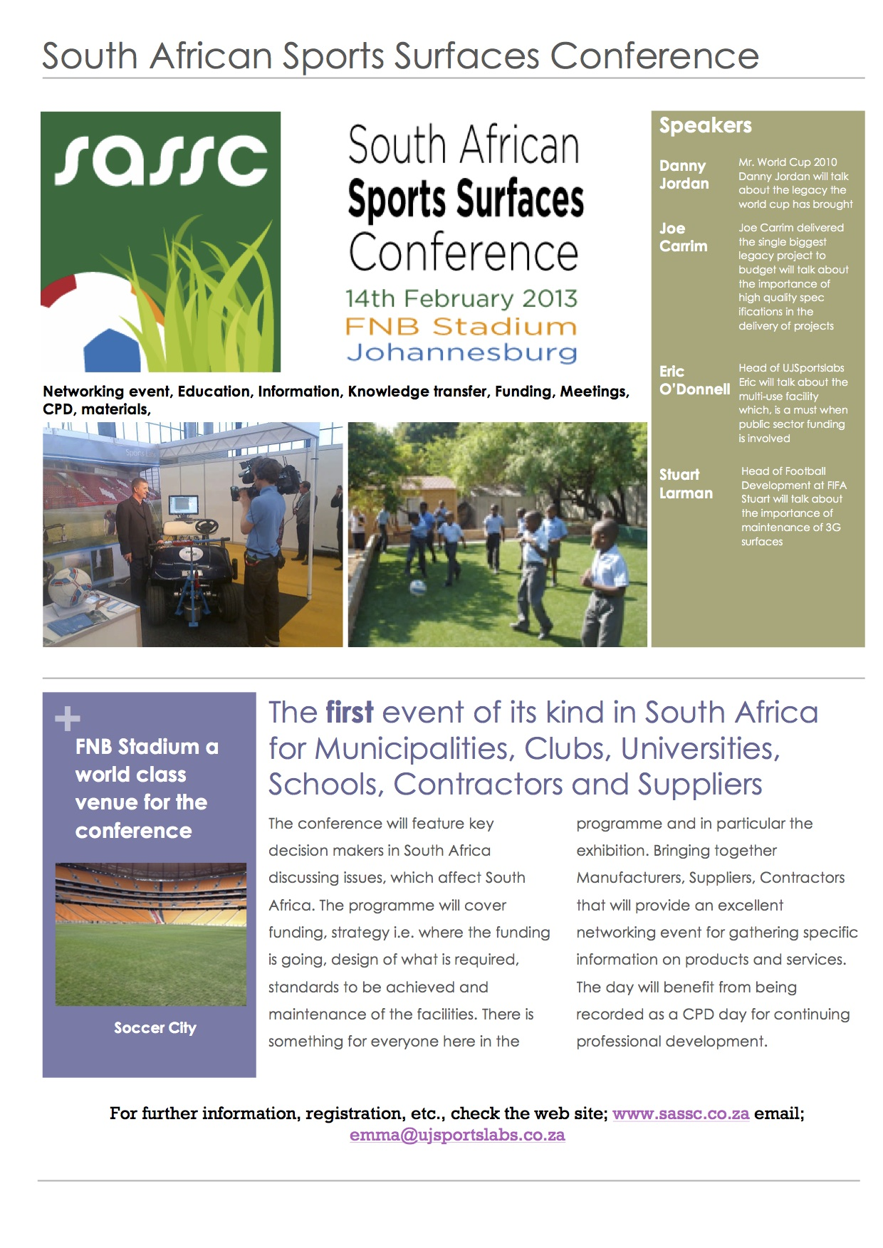 South African Sports Surfaces Conference
