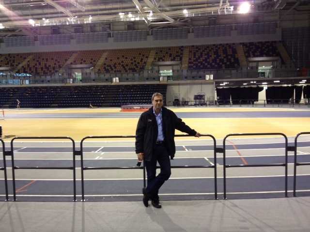 Visiting the Emirates Indoor Arena a fabulous world class indoor track in Glasgow